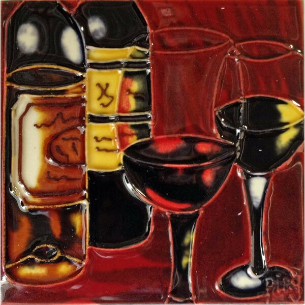 Dark Wine 1 Tile Wall Decor by Continental Art Center