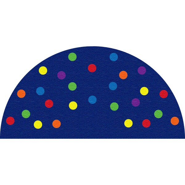 Spots Blue Semicircle Area Rug by Kid Carpet