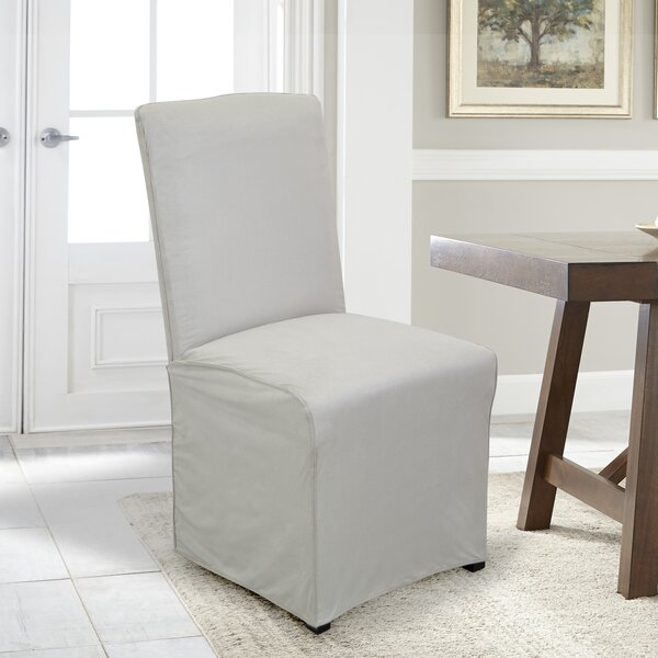 Stretch Fit Box Cushion Dining Chair Slipcover By Serta