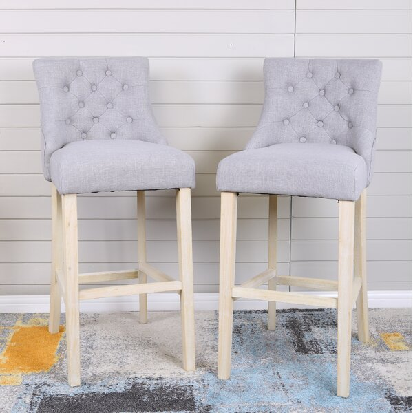 Hubble Bar Stool (Set of 2) by Highland DunesHubble Bar Stool (Set of 2) by Highland Dunes
