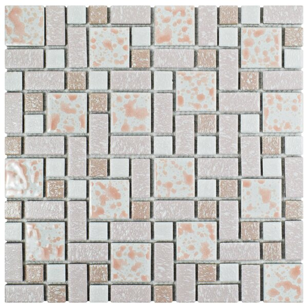 Academy Random Sized Porcelain Mosaic Tile in Pink by EliteTile