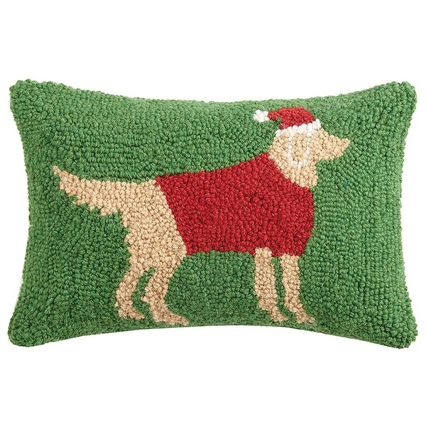 Holiday Retriever Hook Wool Lumbar Pillow by The Holiday Aisle