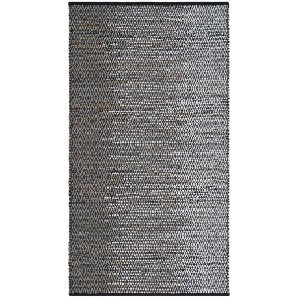 Erik Hand-Woven Light Grey/Grey Area Rug by Bungalow Rose