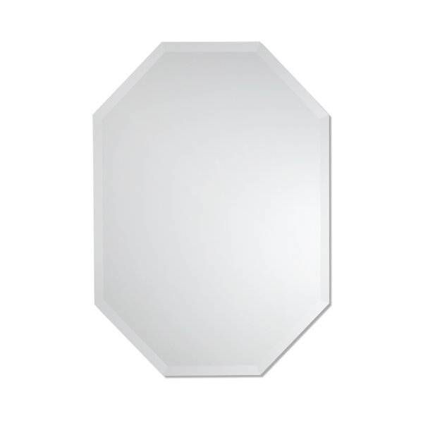 Zerdelian Frameless Octagon Wall Mirror by Ivy Bronx