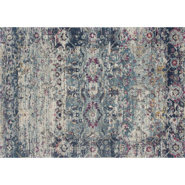 Palmore Teal/Indigo Area Rug by Bungalow Rose