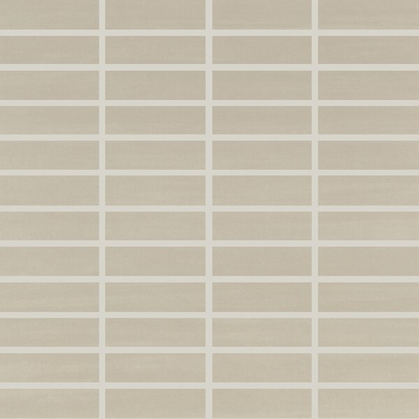 Refinery 1 x 3 Porcelain Mosaic Tile in Greige by PIXL