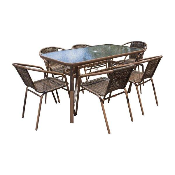 Café 7 Piece Dining Set by Panama Jack Outdoor