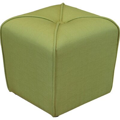 Bellatrix Tufted Cube Ottoman Upholstery Color: Apple Green by Andover Mills