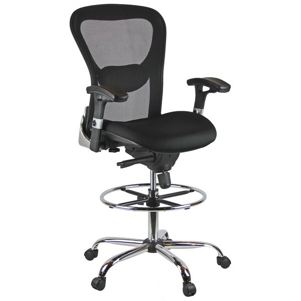 High-Back Mesh Drafting Chair by Harwick Furniture