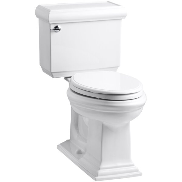 Memoirs Classic Comfort Height Two-Piece Elongated 1.28 GPF Toilet with Aquapiston Flush Technology and Left-Hand Trip Lever by Kohler