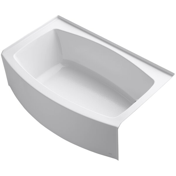 Expanse Alcove 60 x 32 Soaking Bathtub by Kohler