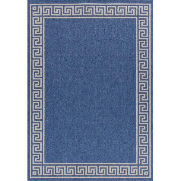 Titan Weather-Proof Blue Indoor/Outdoor Area Rug by Winston Porter