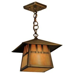 Greenbriar Oak 1-Light Lantern Pendant by Meyda Tiffany