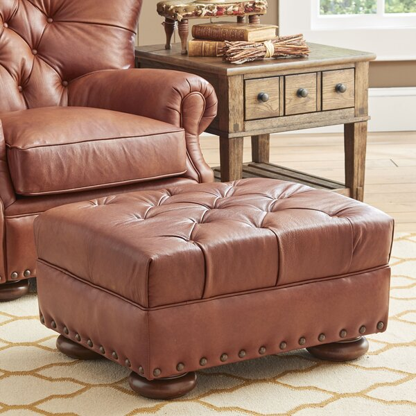 Miller Leather Cocktail Ottoman by Birch Lane™