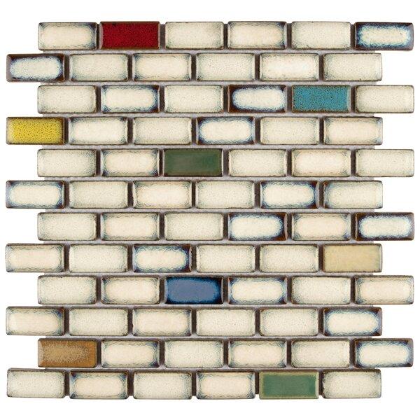 Essentia 0.91 x 1.89 Porcelain Mosaic Tile in Cascade by EliteTile