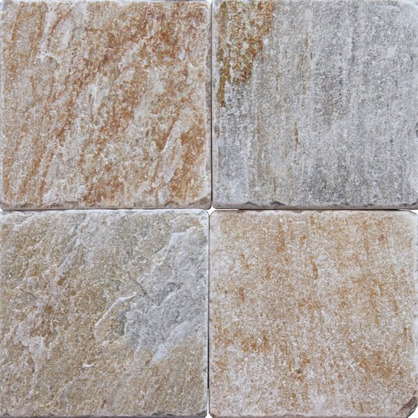 6'' x 6'' Natural Stone Field Tile in Multi by MSI