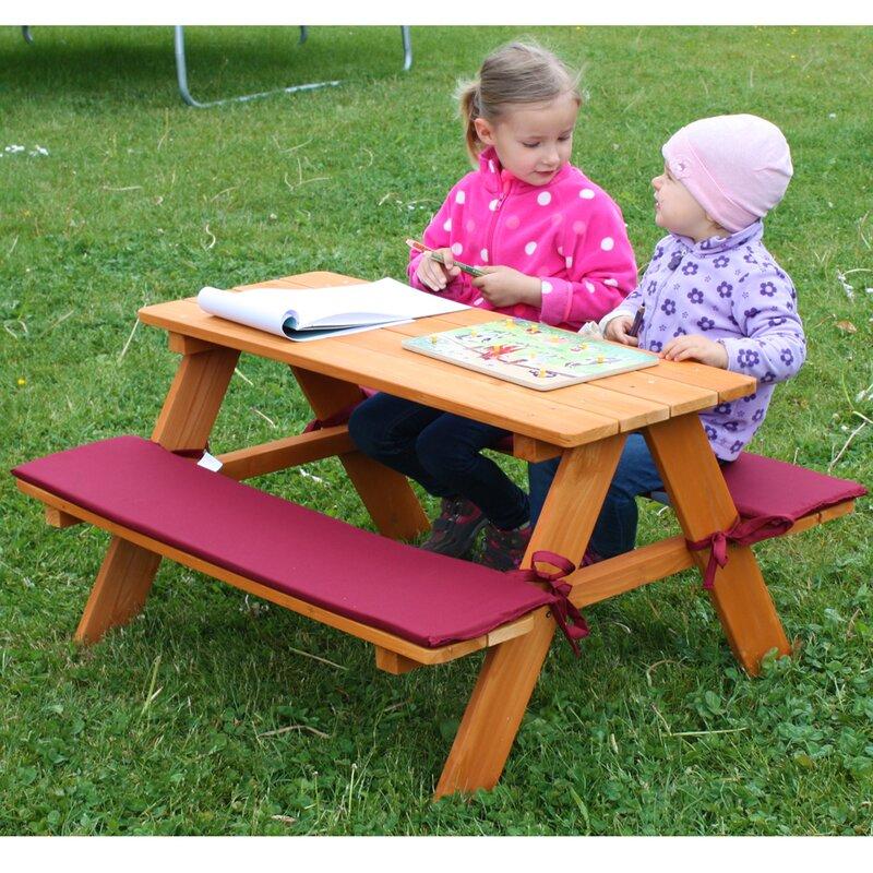 habau rechteckiger kinder picknicktisch bewertungen. Black Bedroom Furniture Sets. Home Design Ideas