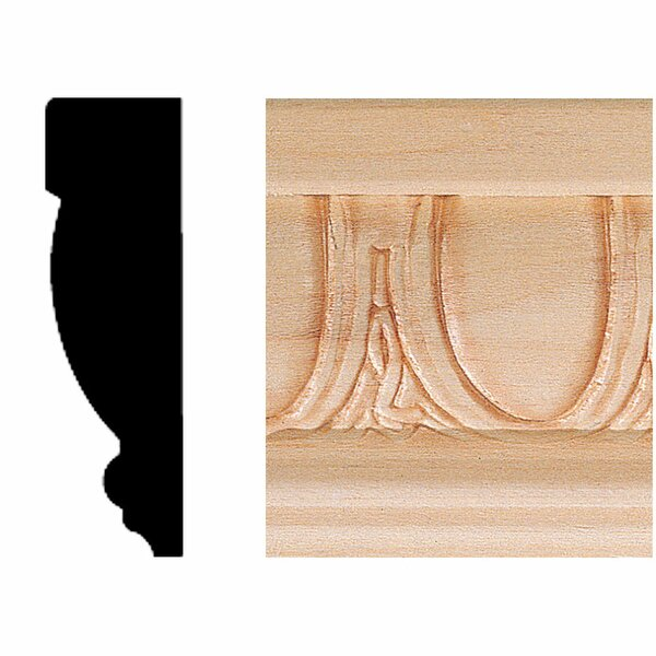 3/4 in. x 2-1/2 in. x 8 ft. Hardwood Emboss Casing/Chair Rail Moulding by Manor House