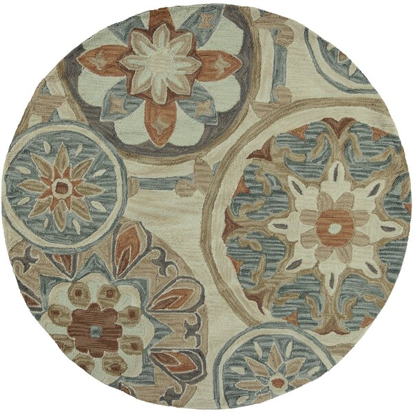 Lager Head Mosaic Tan Area Rug by Red Barrel Studio