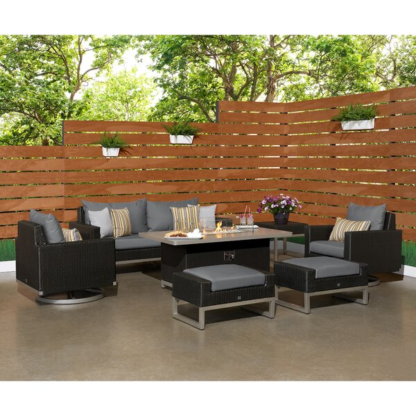 Shameka Motion Fire Outdoor 7 Piece Sunbrella Sofa Seating Group with Cushions by Ivy Bronx Ivy Bronx