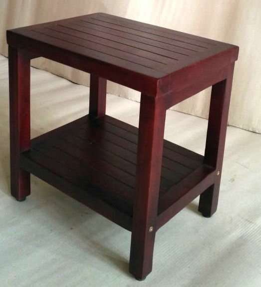 Teak Bathroom Shower Accent Stool by Trijaya Living