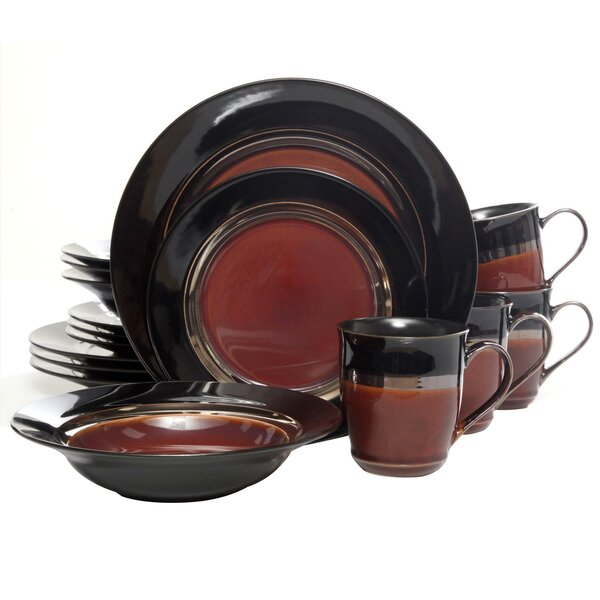 Calypso Court 16 Piece Dinnerware Set, Service for 4 by Coca Cola