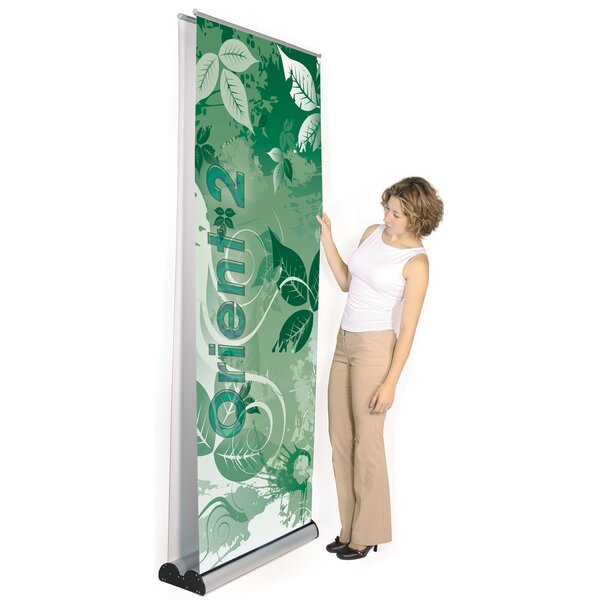 Multiple Size Double Sided Orient 2 Banner Stand by Exhibitor's Hand Book