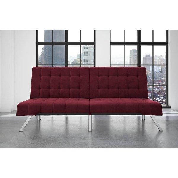 Trantham Velvet Convertible Sofa by Wade Logan