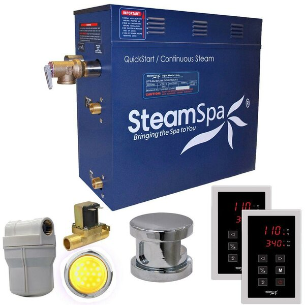 Royal 4.5 kW QuickStart Steam Bath Generator Package with Built-in Auto Drain by Steam Spa