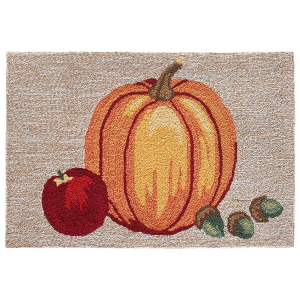 Treport Pumpkin Hand-Tufted Brown/Orange Indoor/Outdoor Area Rug by August Grove