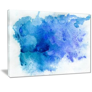 'Blue Watercolor' Graphic Art Print on Canvas by East Urban Home