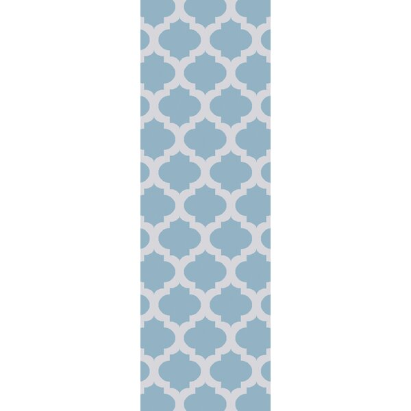 Derby Sky Blue/Ivory Indoor/Outdoor Area Rug by Ivy Bronx