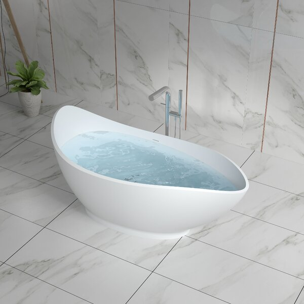 69 x 69 Freestanding Soaking Bathtub by InFurniture