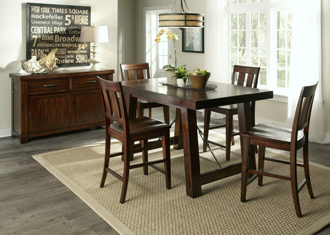 loon peak haloke counter height extendable dining table reviews default name