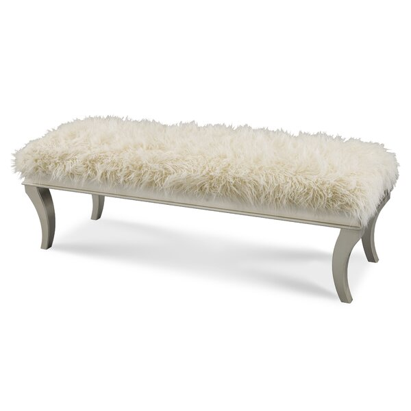 Hollywood Swank Upholstered Bench by Michael Amini