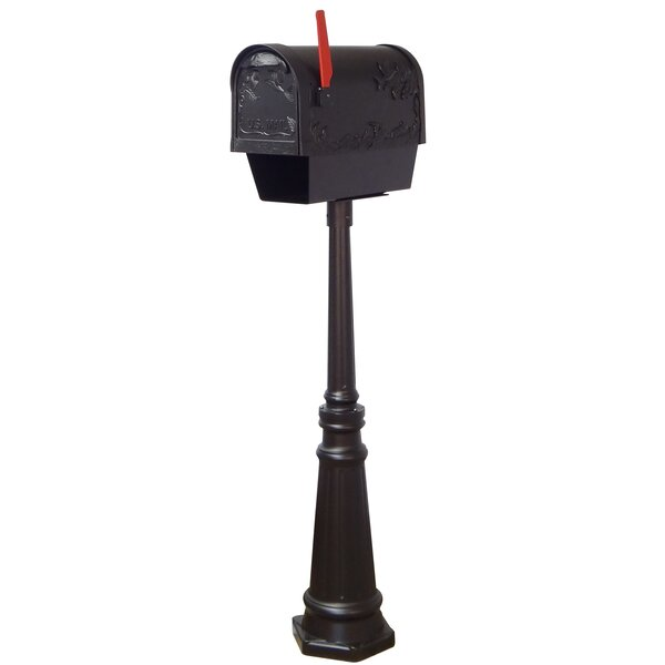 Hummingbird Curbside Locking Mailbox with Tacoma Post Included by Special Lite Products