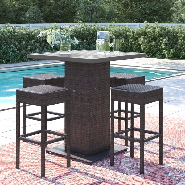Stratford 5 Piece Bar Height Dining Set By Sol 72 Outdoor
