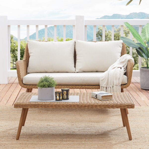 Macgregor Outdoor 2 Piece Seating Group Set with Cushions by George Oliver