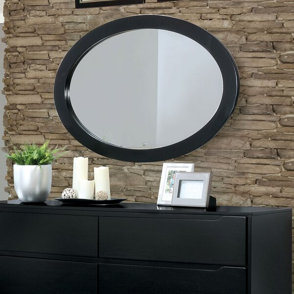 Ricardo Mid-Century Modern Oval Accent Wall Mirror by Langley Street