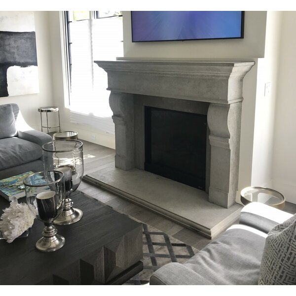 Alexandria Fireplace Surround With Heart By Los Angeles Cast Stone