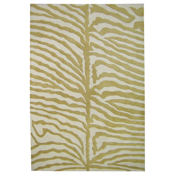 Hand-Tufted Green/Ivory Area Rug by The Conestoga Trading Co.