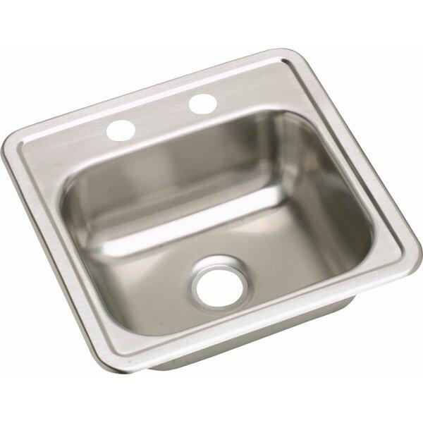 Dayton 15 L x 15 W 2 Hole Bar Sink by Elkay