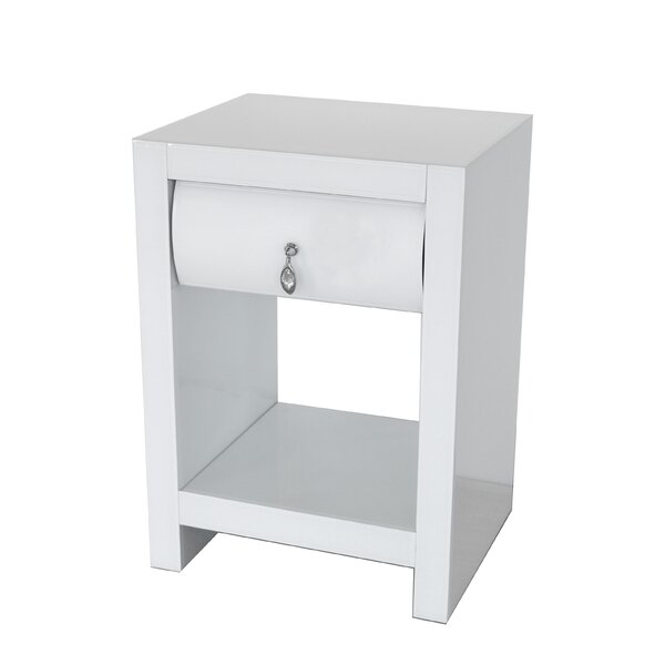 Kattan Curved Nightstand by Rosdorf Park