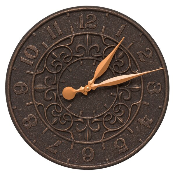 16 Vine and Fleur Indoor/Outdoor Wall Clock by Whitehall Products