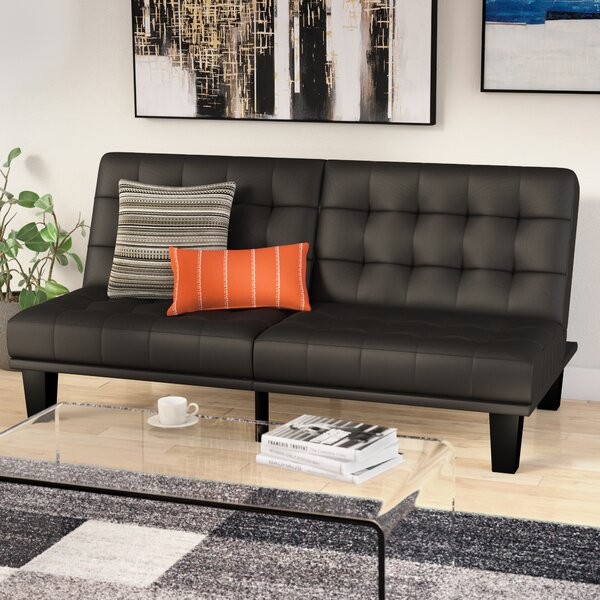 Looking for Haysi Futon Lounger Convertible Sofa By Wade Logan Fresh