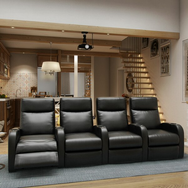 Lounger Home Theater Row Seating (Row Of 4) By Winston Porter