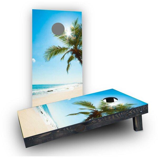 Palms Cornhole Boards (Set of 2) by Custom Cornhole Boards