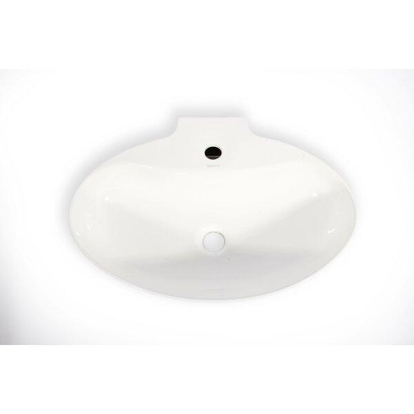 Malaga Ceramic Oval Vessel Bathroom Sink by Hispania Home