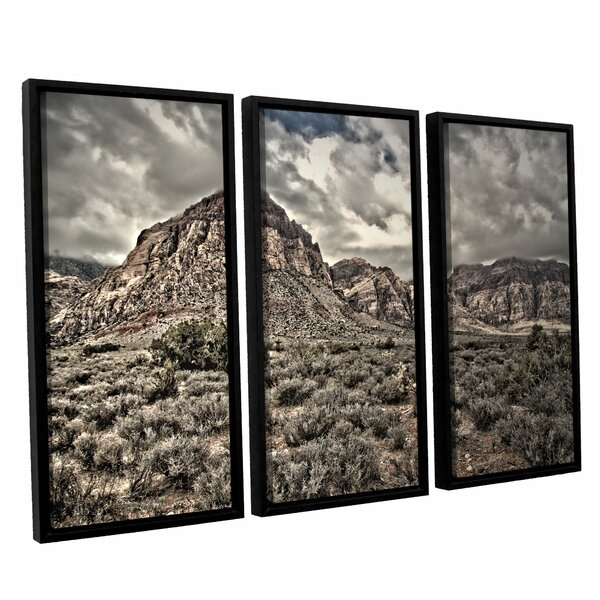 No Distractions by Mark Ross 3 Piece Framed Photographic Print on Wrapped Canvas Set by ArtWall