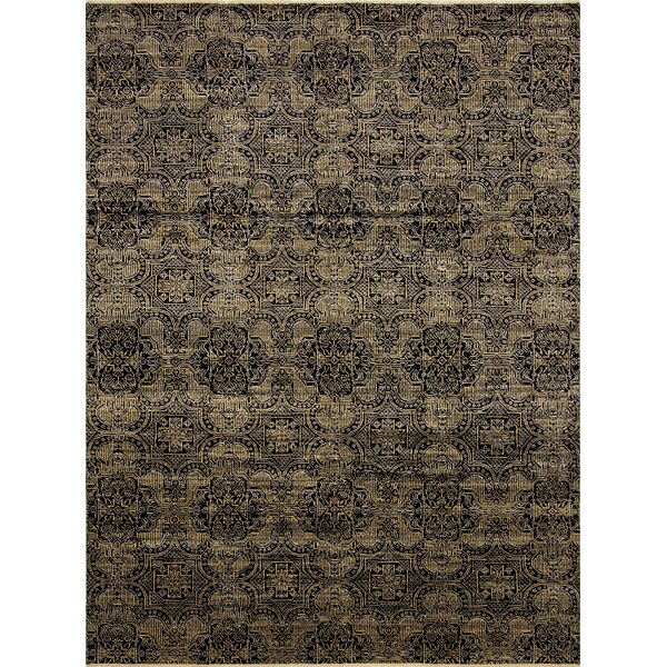 One-of-a-Kind Gena Hand Knotted Wool Black Area Rug by Isabelline